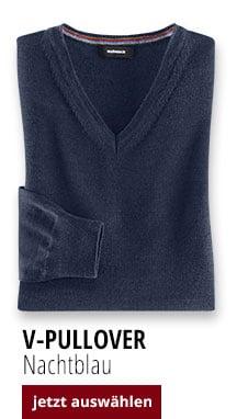 V-Pullover Nachtblau